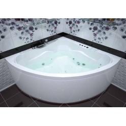 Акриловая гидромассажная ванна (форсунки Шампань) Флорес (Flores) 150×150