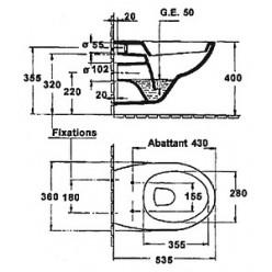 Комплект Jacob Delafon Patio E5504-NF-M1 (E5504-NF+E4316-00+E4187-00+E70021-00)