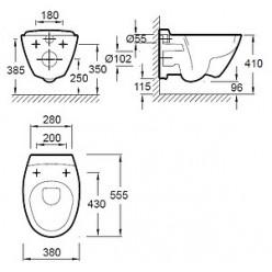 Комплект Jacob Delafon Presquile E5504-NF-M10 (E5504-NF+E4326-CP+E4440-00)