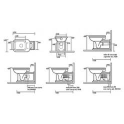 Унитаз приставной Kerasan Waldorf 65 см