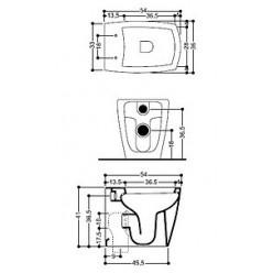 Унитаз приставной Axa X-Tre
