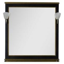 Зеркало Aquanet Валенса 90 черный краколет/золото