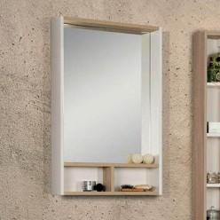 Зеркало Акватон Йорк 55 белый/дуб сонома