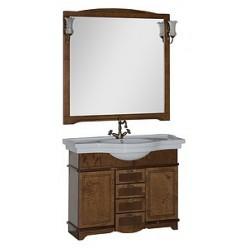 Зеркало Aquanet Луис 110 NEW темный орех
