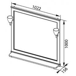 Зеркало Aquanet Валенса 100 белый краколет/серебро