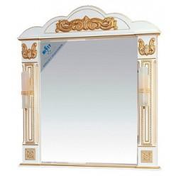 Зеркало Misty Барокко 100 белое, патина