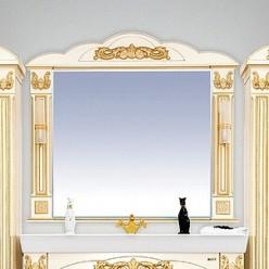 Зеркало Misty Барокко 120 бежевое, патина