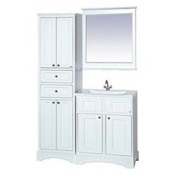 Зеркало Misty Герда 70 с подсветкой, белая эмаль