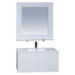 Зеркало Misty Вегас 90 с полочкой и светильником
