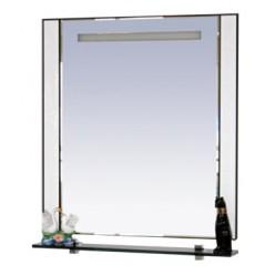 Зеркало Misty Гранд Lux 80 бело-черная кожа croco